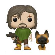 Figurine Pop! Daryl avec chien - The Walking Dead