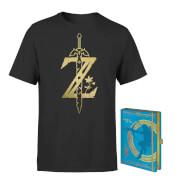 Nintendo Legend Of Zelda Tee & Notepad Bundle