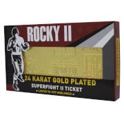 Rocky - Ticket de combat plaqué or 24K Rocky V Apollo Creed Re-Match