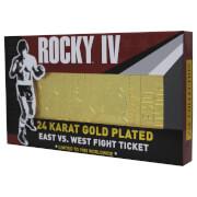 Rocky - Ticket de combat plaqué or 24K Rocky V Drago