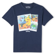 Pokémon Walking Along The Waterfront Unisex T-Shirt - Navy