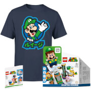Lot LEGO Super Mario Les Aventures de Luigi + T-Shirt Luigi + Extension