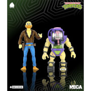 NECA Teenage Mutant Ninja Turtles Action Figure 2 Pack 1/10 Scale Ace Duck & Mutagen Man TMNT