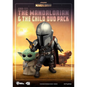 Beast Kingdom The Mandalorian Egg Attack Action Figure - The Mandalorian & The Child Duo Pack