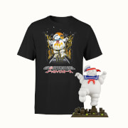Ghostbuster Stay Puft Marshmallow Collectible And T-Shirt Bundle