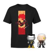 Deadpool - T-shirt & POP! Vinyl Bundle