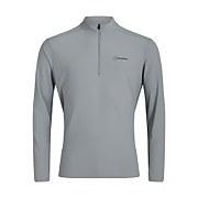 Men's 24/7 Long Sleeve Zip Base Layer - Grey