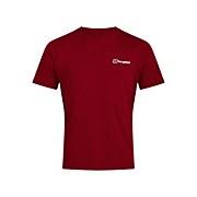 Men's Organic F&B Logo T-Shirt - Dark Red