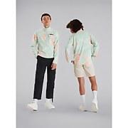 Unisex Prism Printed Trango Half Zip Fleece - Pink / Blue