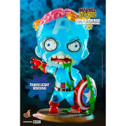 Hot Toys Cosbaby Marvel Comics [Size S] - Marvel Zombies: Captain America (Translucent Colour Version)