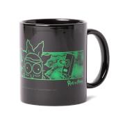 Rick and Morty Portal Heads Mug - Black