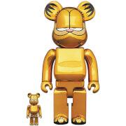 Medicom Garfield (Gold Chrome) 100% & 400% Be@rbrick 2-pack