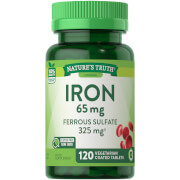 Iron 65mg Ferrous Sulfate 325mg - 120 Tablets