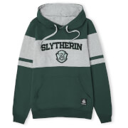 Slytherin House Panelled Hoodie - Green