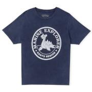 Pokémon Marine Explorer Unisex T-Shirt - Navy Acid Wash