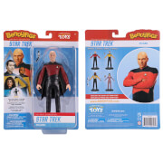 Noble Collection Star Trek Captain Picard BendyFig 7.5 Inch Action Figure