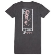 The Lost Boys Sleep All Day Party All Night Women's T-Shirt Dress - Black Acid Wash