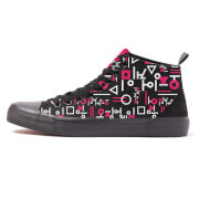 AKEDO X Squid Game Chaussures Coupe Haute Noir