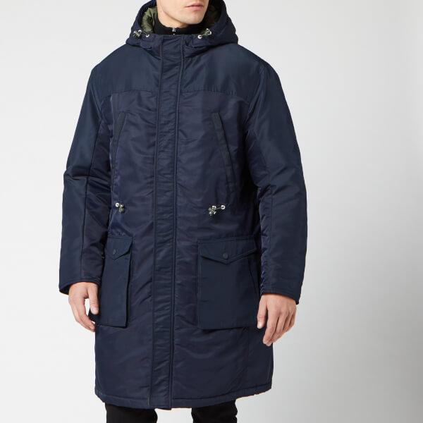 armani exchange men's trench coat - navy - xl - blue
