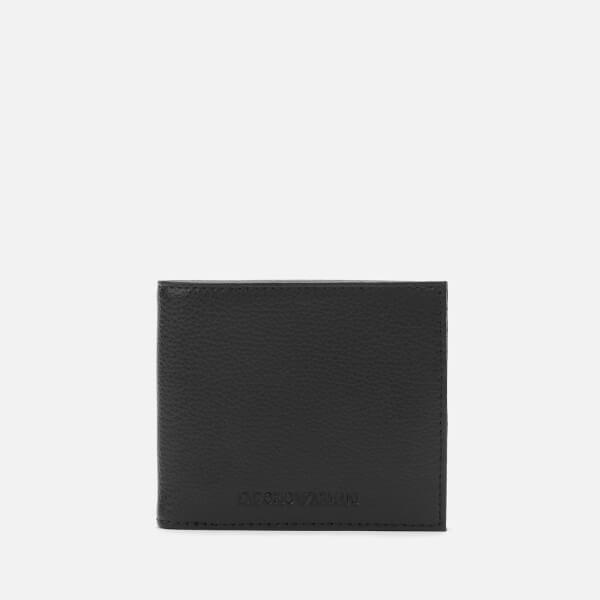 emporio armani men's bi-fold - black