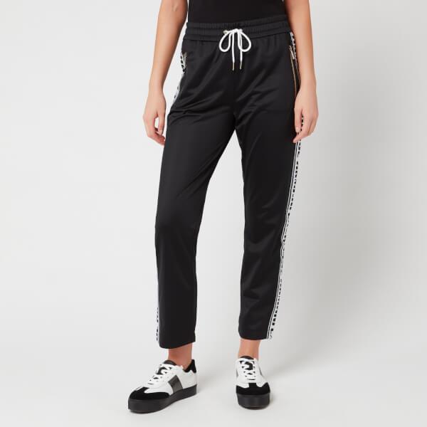 armani exchange women's sweatpants with taping - black - xs