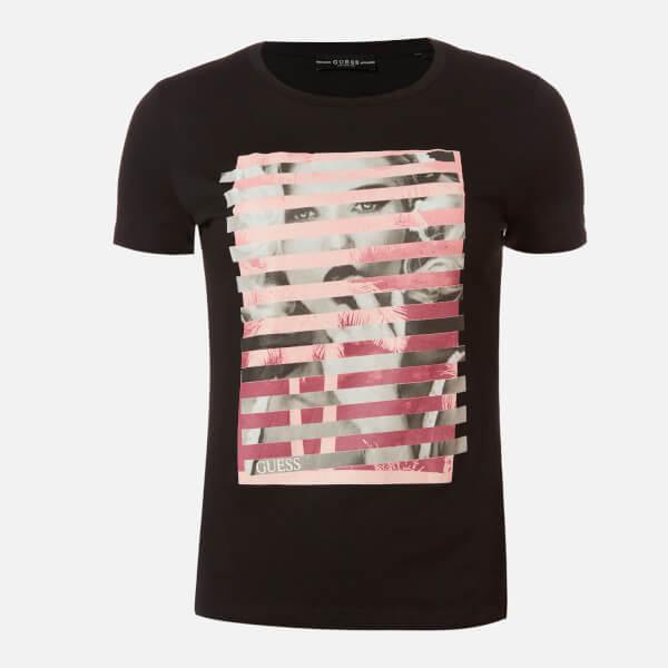 guess women's short sleeve rn olga t-shirt - jet black - xs