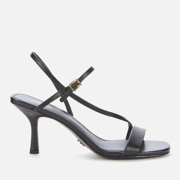 michael michael kors women's tasha heeled sandals - black - uk 3