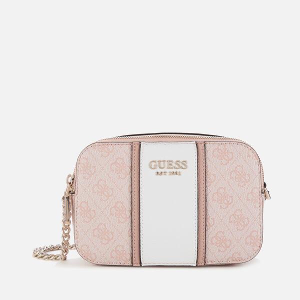 guess women's cathleen camera bag - blush