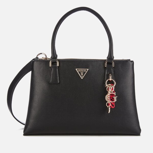 guess women's becca status satchel - black
