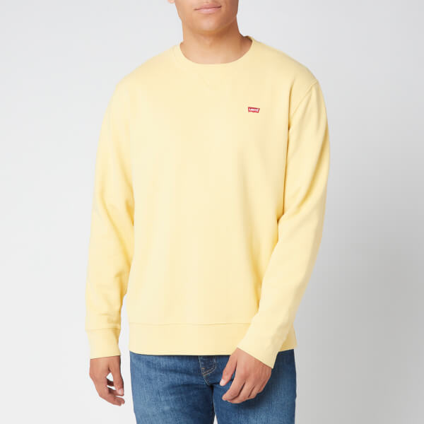 levi's men's new original sweatshirt - dusky citron - s
