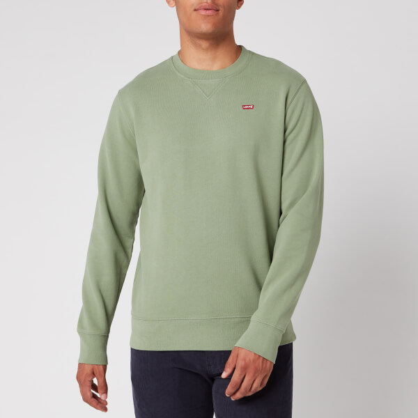 levi's men's new original sweatshirt - hedge green - s