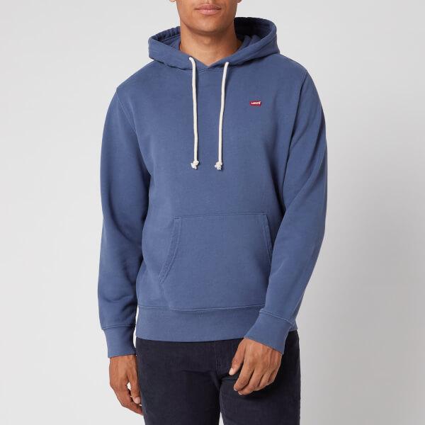 levi's men's new original hoodie - blue indigo - s