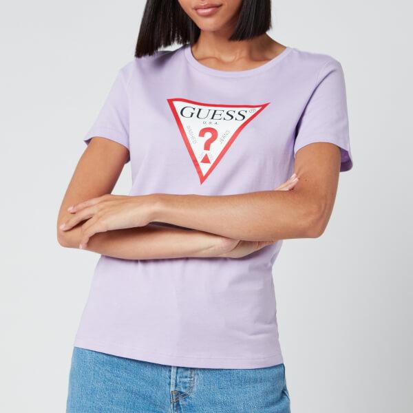 guess women's tatiana t-shirt - lilac future - xs
