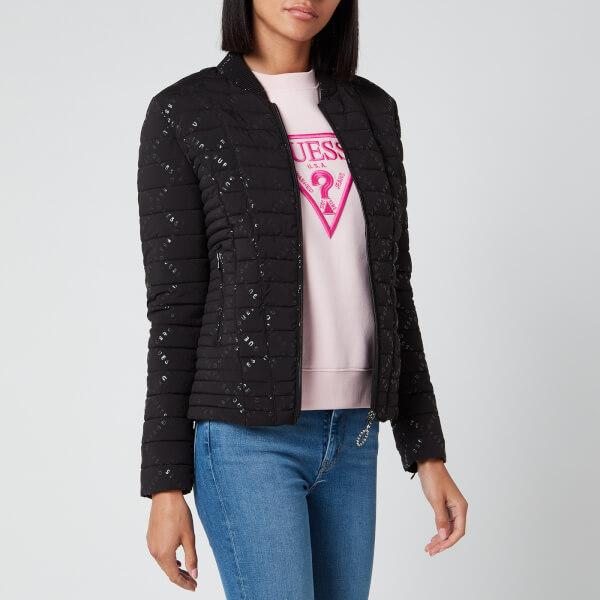 guess women's vera jacket - jet black - xs