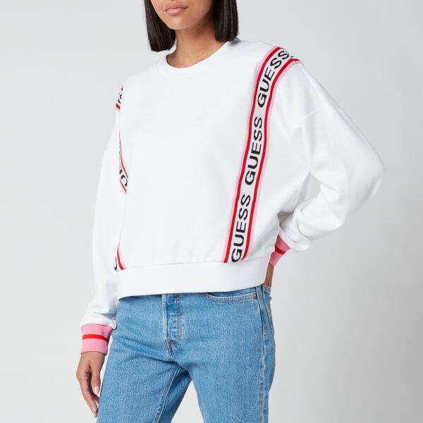 guess women's clemence sweatshirt - true white - xs
