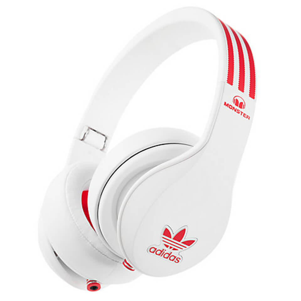 Cerebro juez mecanógrafo  adidas Originals by Monster Headphones (3-Button Control Talk & Passive  Noise Cancellation) - White/Red - IWOOT UK