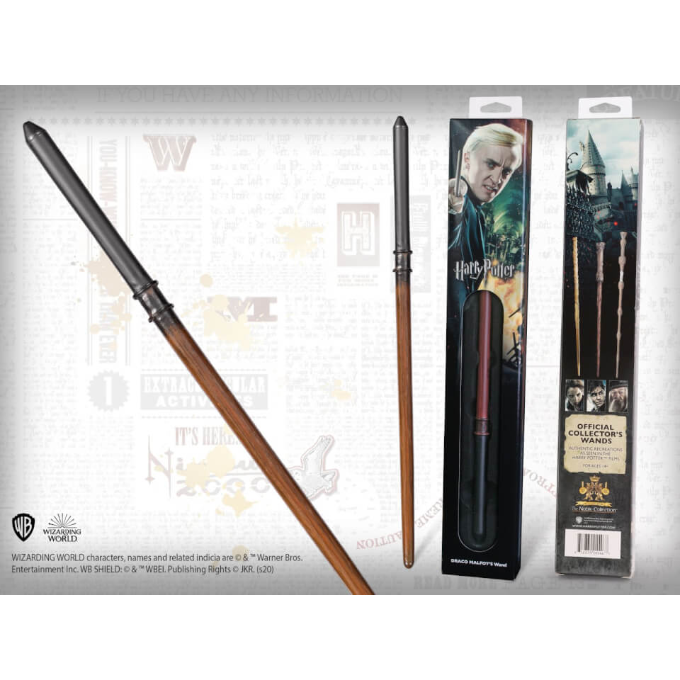 Nützlichfanartikel - Harry Potter Draco Malfoy's Wand with Window Box - Onlineshop Sowas Will Ich Auch
