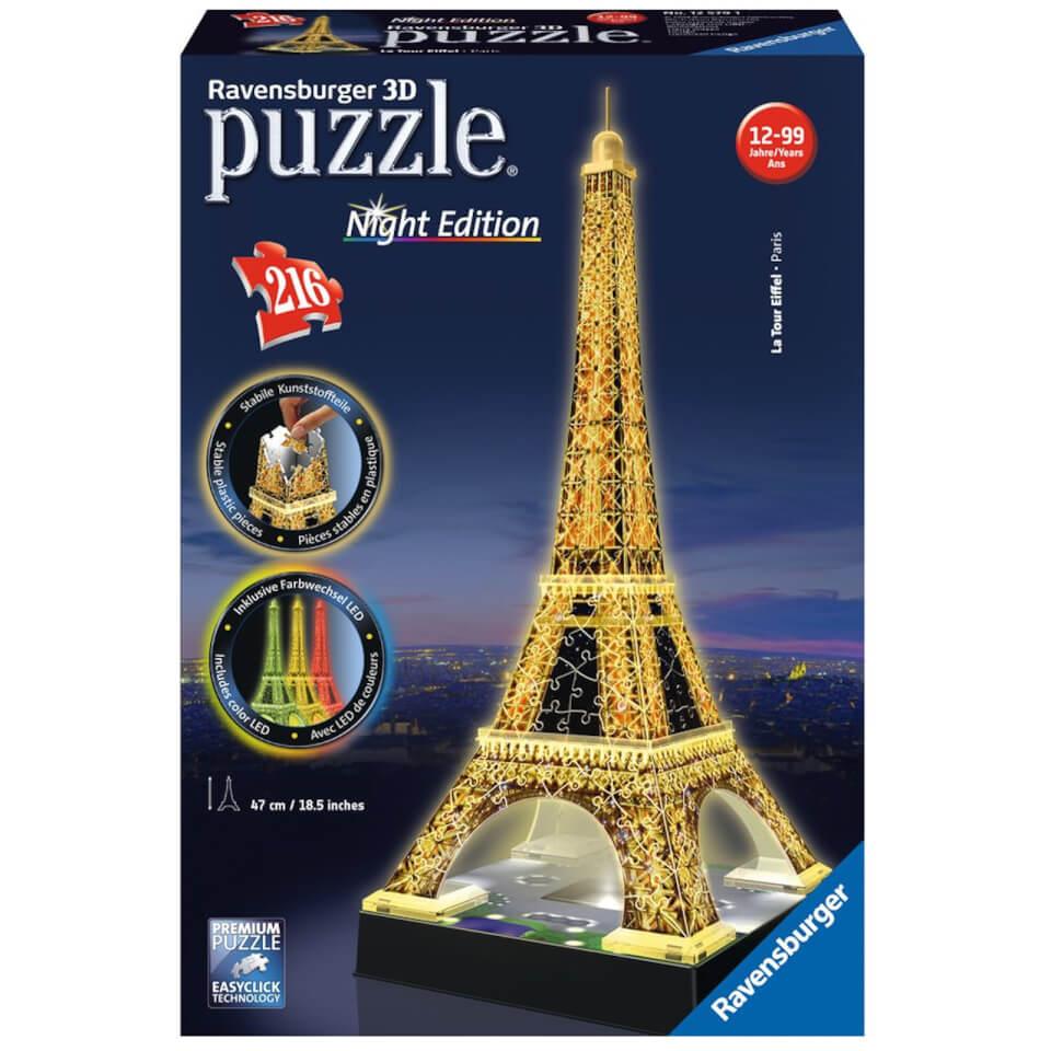 Ausgefallenkreatives - Ravensburger Eiffel Tower Night Edition 3D Jigsaw Puzzle (216 Pieces) - Onlineshop Sowas Will Ich Auch