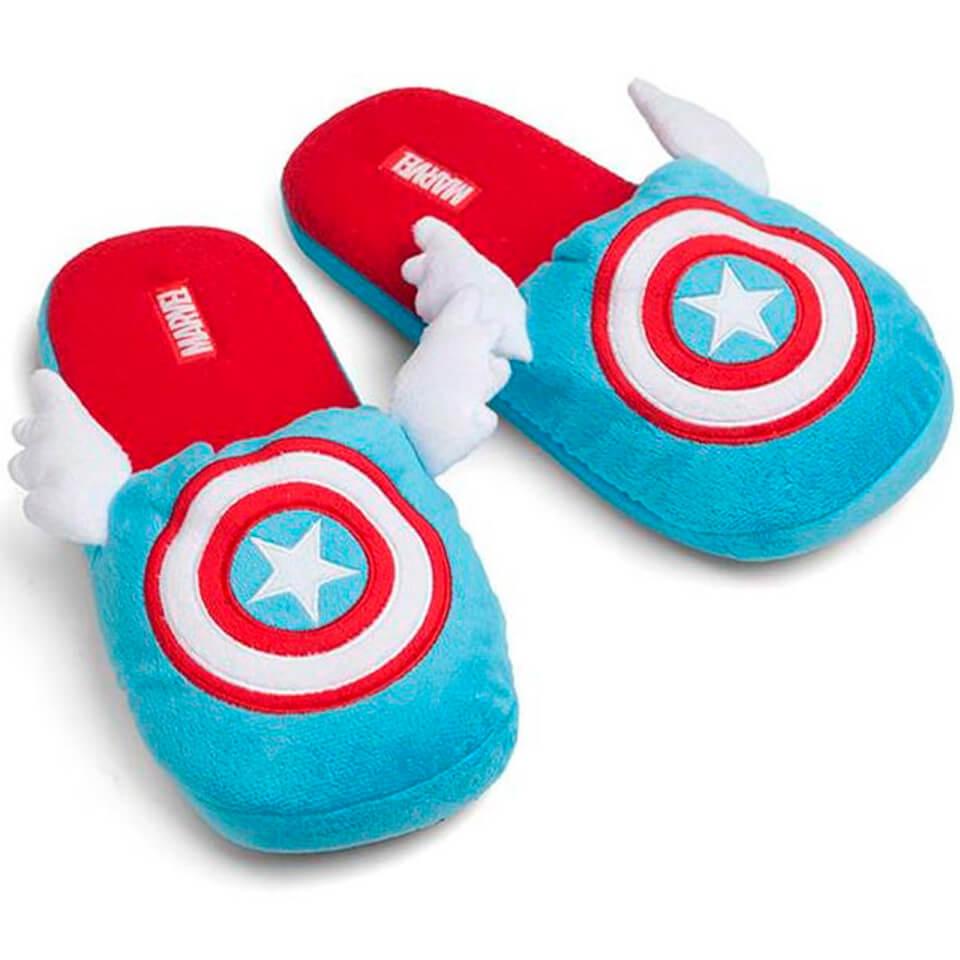 Nützlichfanartikel - Marvel Captain America Winged Slippers L XL - Onlineshop Sowas Will Ich Auch