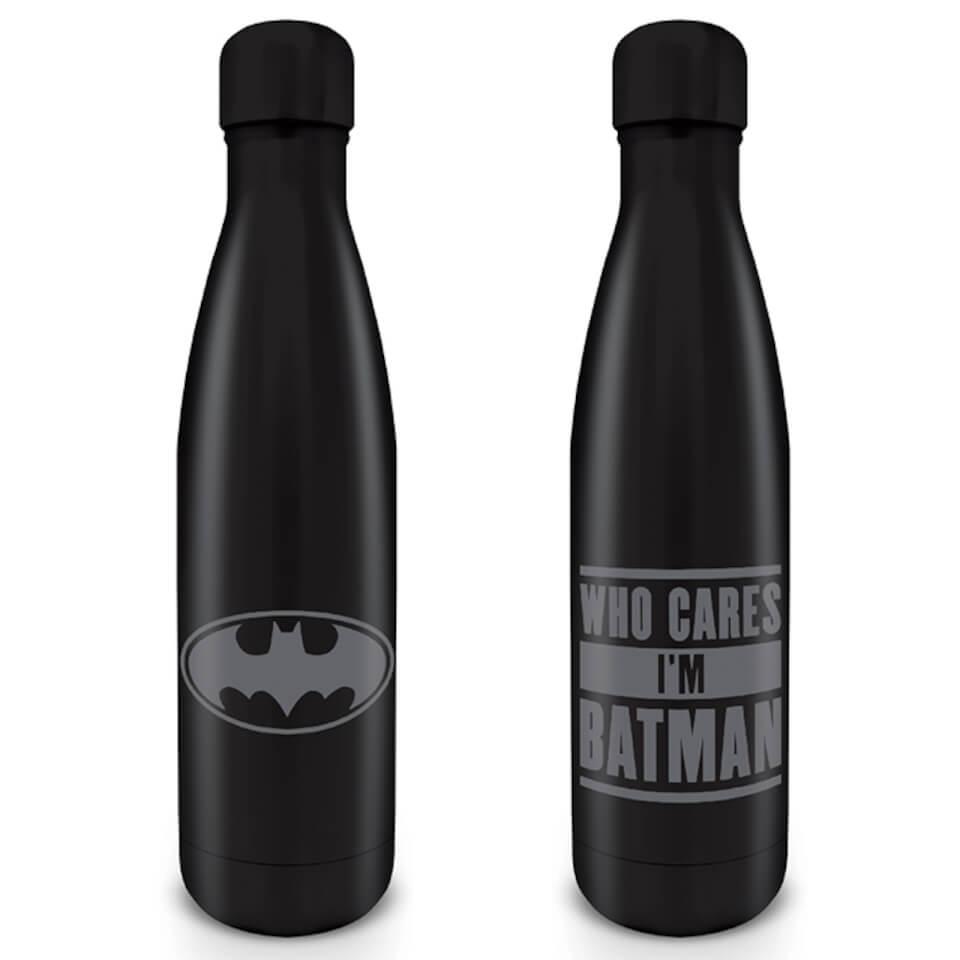Nützlichfanartikel - Batman (Who Cares I'm Batman) Metal Drinks Bottle - Onlineshop Sowas Will Ich Auch