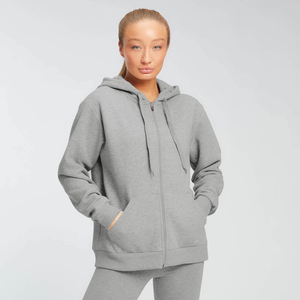 MP Essentials hoodie met rits voor dames - Grijs gemêleerd - S