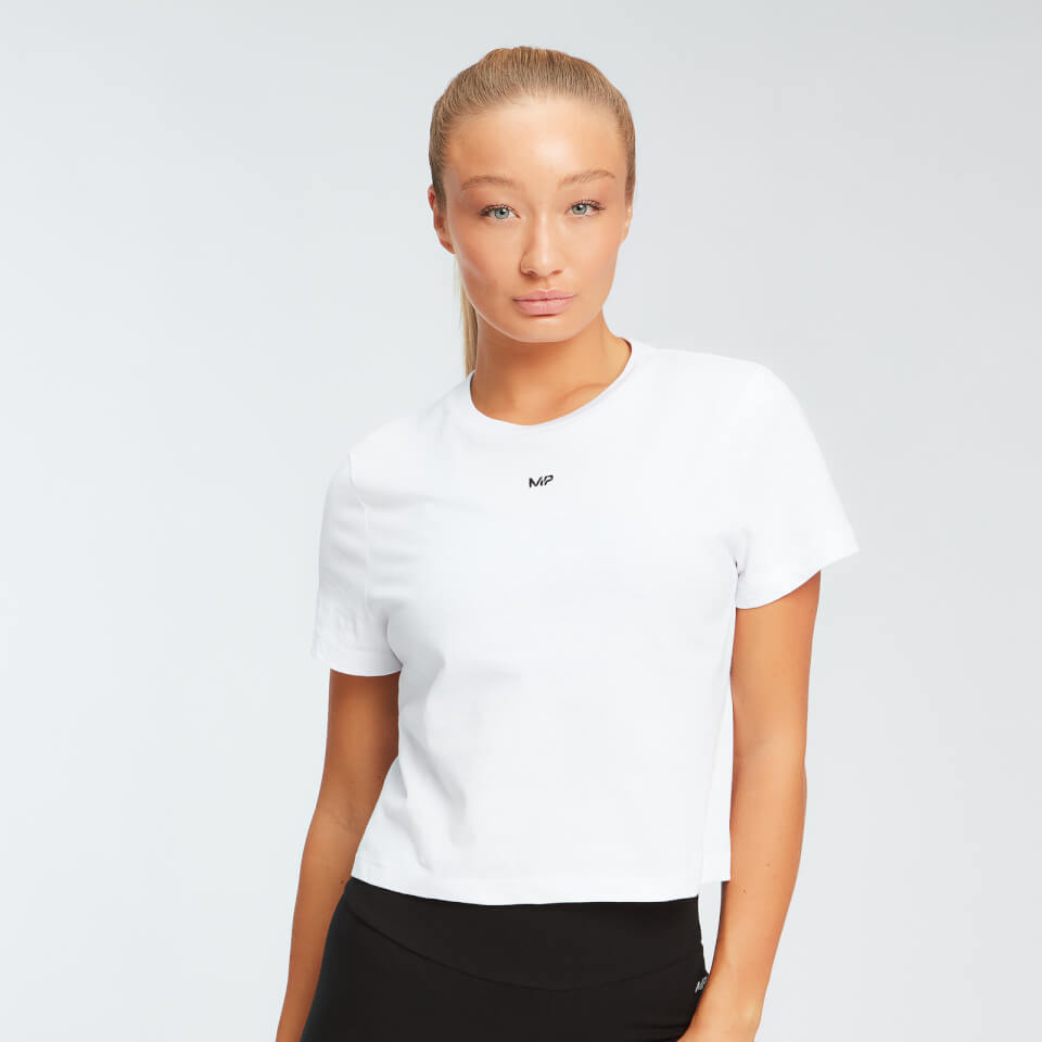 MP Essentials cropped T-shirt voor dames - Wit - XL