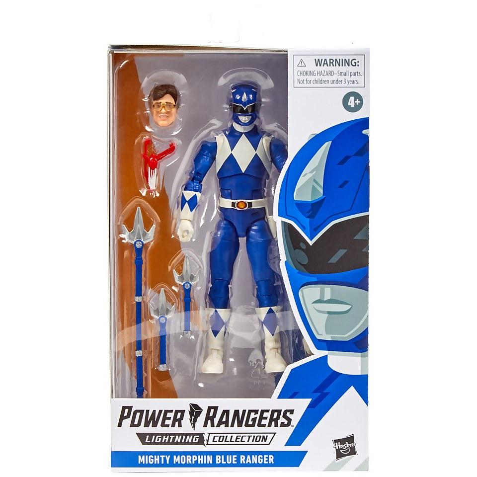 Nützlichfanartikel - Power Rangers Lightning Collection Mighty Morphin Blauer Ranger Figur - Onlineshop Sowas Will Ich Auch