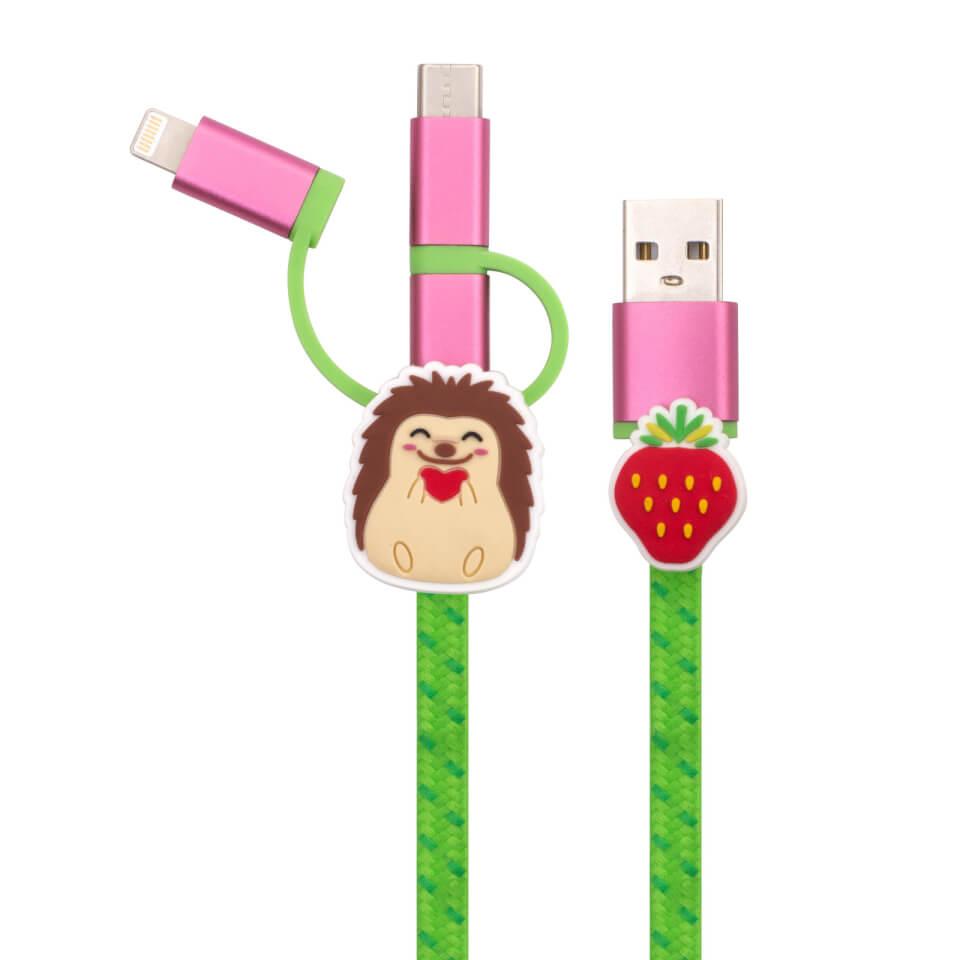 Ausgefallengadgets - Hedgehog 3 in 1 Cable - Onlineshop Sowas Will Ich Auch