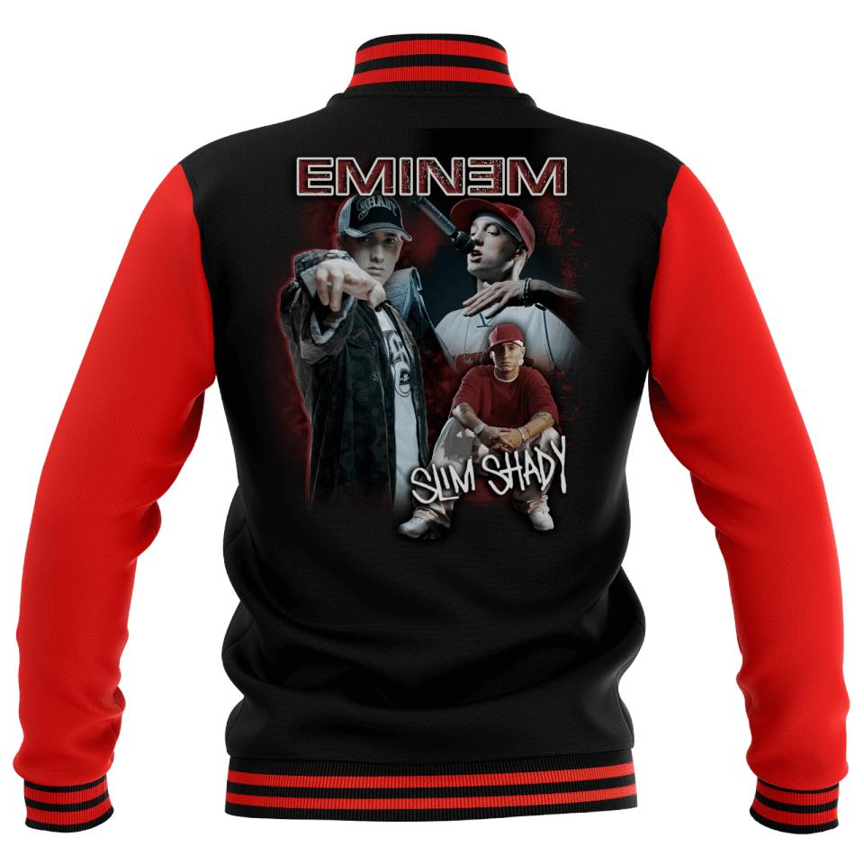 Eminem Unisex Varsity Jacke - Rot / Schwarz - L | Bekleidung > Jacken > Sonstige Jacken | Eminem