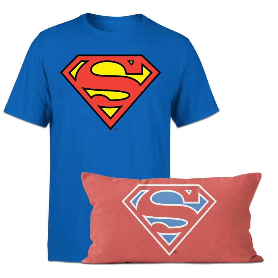 Nützlichfanartikel - Superman T Shirt And Cushion Bundle Kids' - Onlineshop Sowas Will Ich Auch