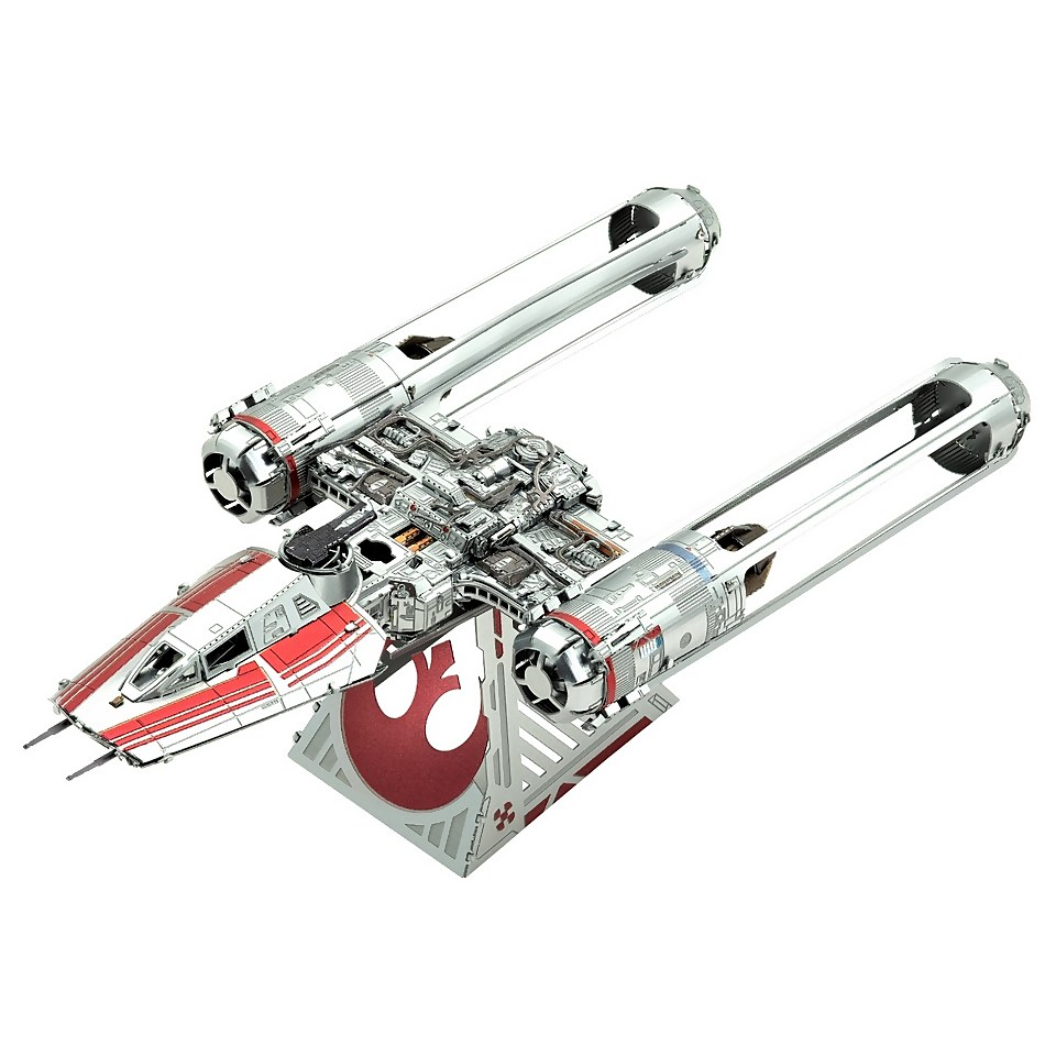 Nützlichfanartikel - Star Wars Episode 9 Metal Earth 3D Construction Kit Zorri's Y Wing Fighter - Onlineshop Sowas Will Ich Auch