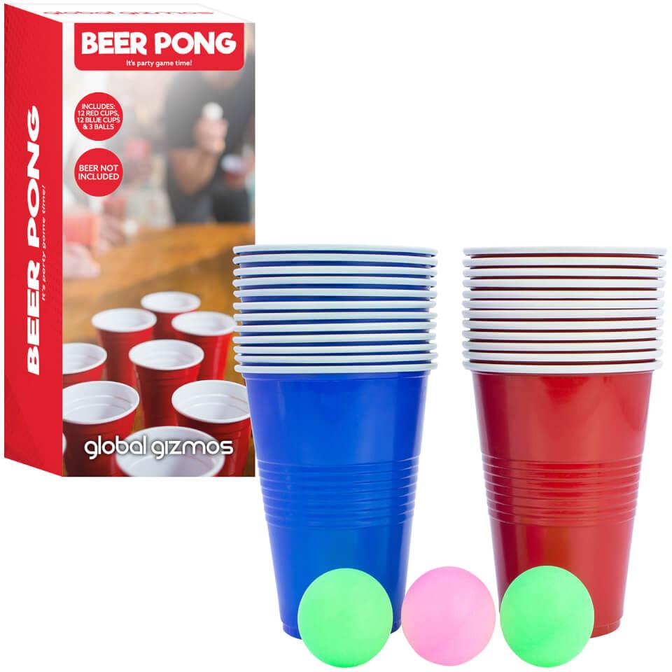 Ausgefallengadgets - Global Gizmos Beer Pong Set - Onlineshop Sowas Will Ich Auch