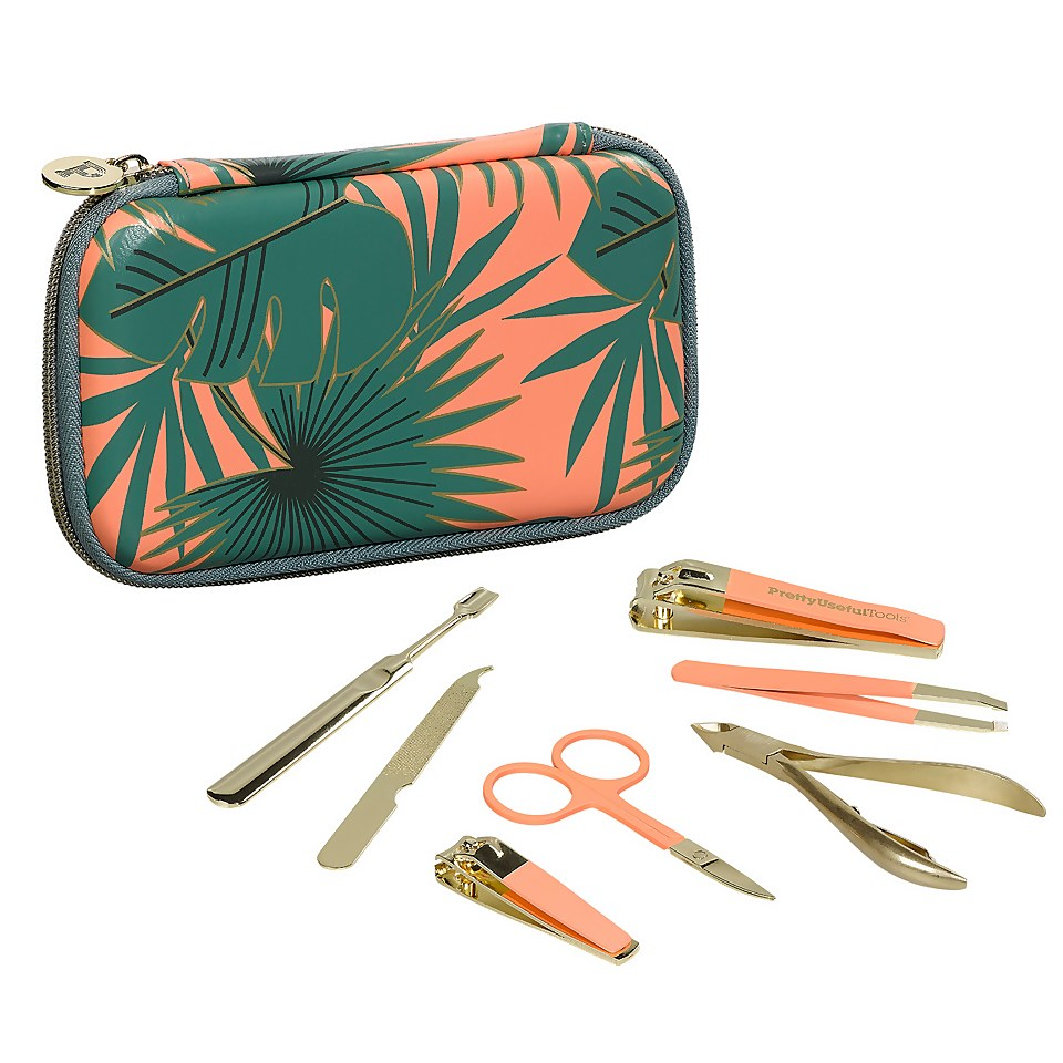 Ausgefallengadgets - Pretty Useful Tools Travel Manicure Kit Sunset Pink - Onlineshop Sowas Will Ich Auch