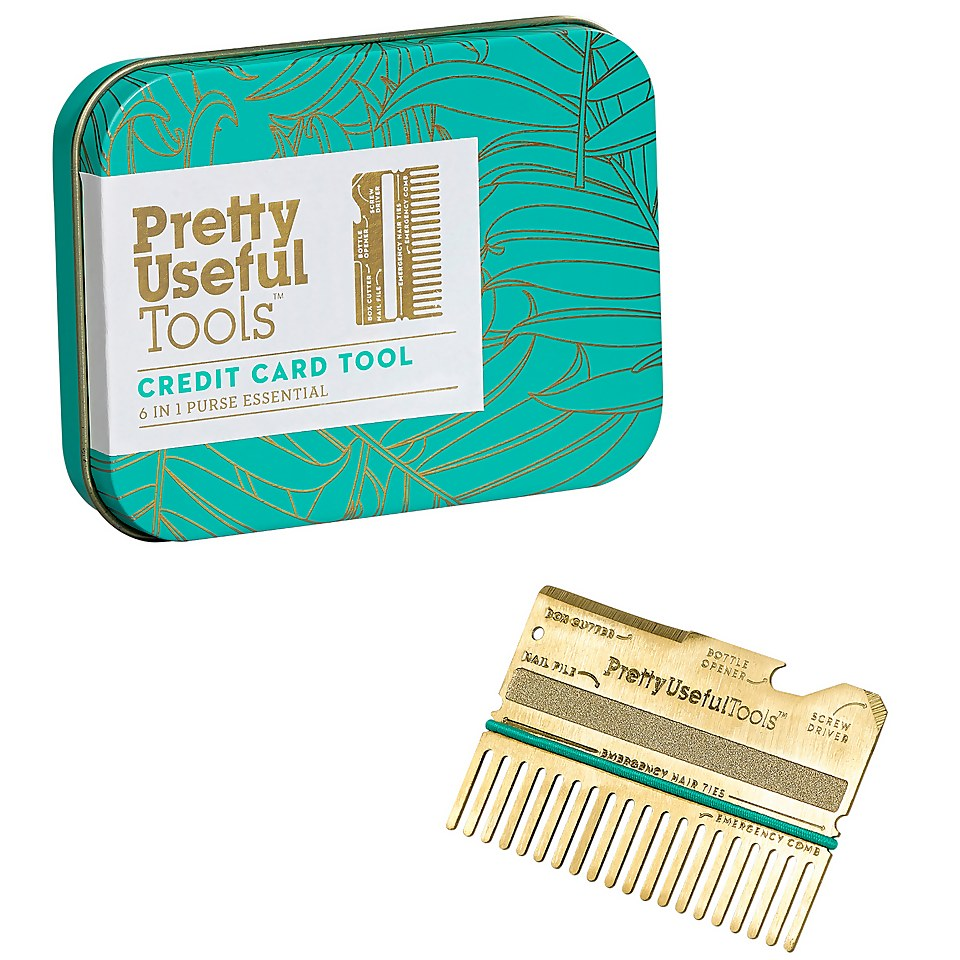 Ausgefallengadgets - Pretty Useful Tools Credit Card Multi Tool Gold - Onlineshop Sowas Will Ich Auch